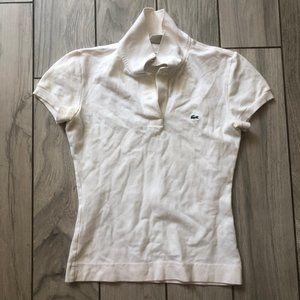 Lacoste white short sleeve polo size 34